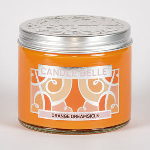 Candle Belle® Orange Dreamsicle Fragranced Twin Wick Jar Candle 240g (3 Pack)