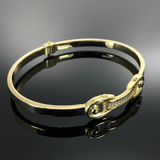 Real Gold Bangle GZBL 17 - 18k Gold Jewelry