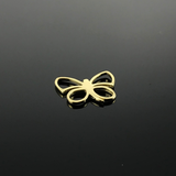 Real Gold Butterfly Pendant 004 - 18K Gold Jewelry