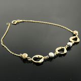 Real Gold 3 Color 4 ball Bracelet - 18K Gold Jewelry