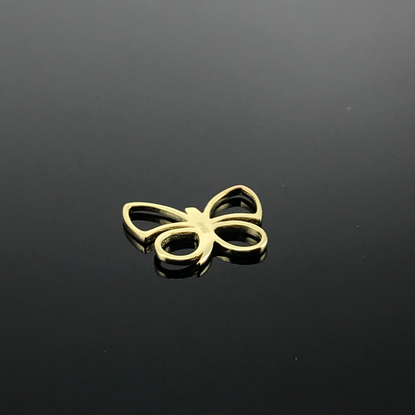 Real Gold Butterfly Necklace 004 - 18k Gold Jewelry