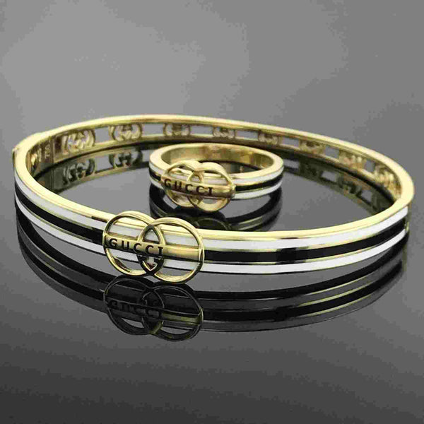 Real Gold GUCCI Bangle 002 With Ring