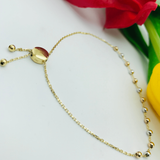 Real Gold 3 Color Ball Bracelet - 18k Gold Jewelry