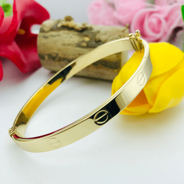 Real Gold CR Bangle Yellow 2020-C - 18K Gold Jewelry