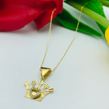 Real Gold Line Crown Necklace - 18k Gold Jewelry