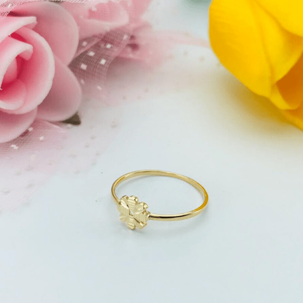 Real Gold 2 Color Flower Ring 2020 (SIZE 7.5)