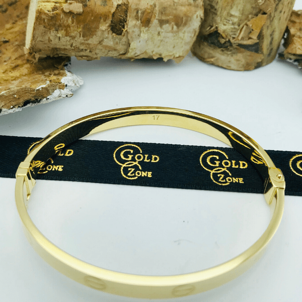 Real Gold CR Bangle Yellow 2020-J - 18K Gold Jewelry