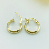 Real Gold Maze Hoop Earring Set 2020 - 18k Gold Jewelry