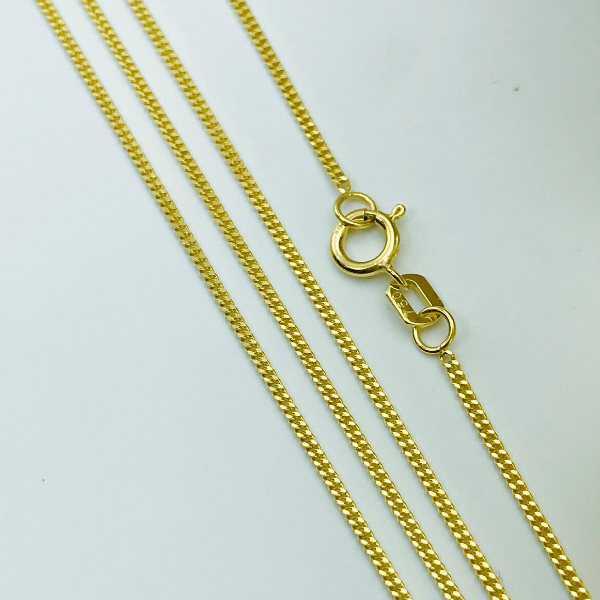 Real Gold Chain (45 C.M) A-1387 - 18k Gold Jewelry