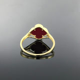 Real Gold Vc Red Ring (SIZE 8.5) - 18k Gold Jewelry