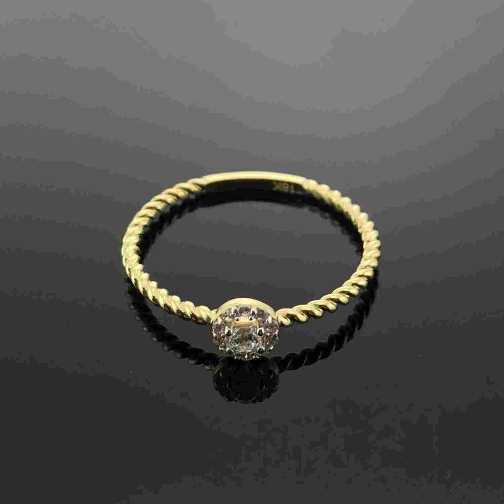 Real Gold Ring (SIZE 6.5) GZR 117 - 18k Gold Jewelry