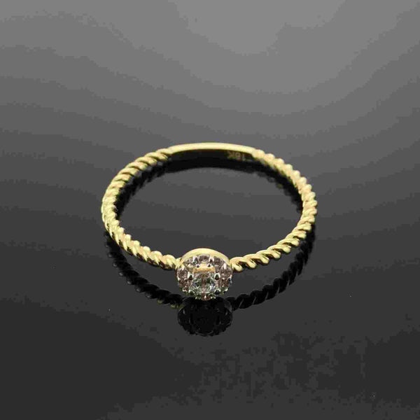 Real Gold Ring GZR 117 (SIZE 6) - 18k Gold Jewelry