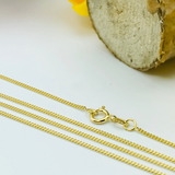 Real Gold Chain (50 C.M) A-1387 - 18K Gold Jewelry