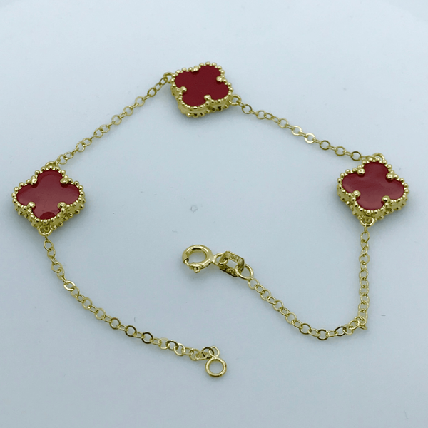 Real Gold 3VC Red Bracelet - 18k Gold Jewelry