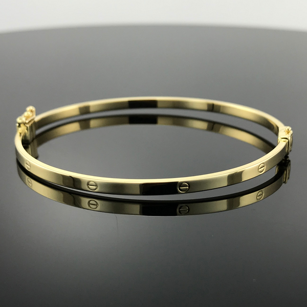 Real Gold CR Bangle 19 - 18k Gold Jewelry