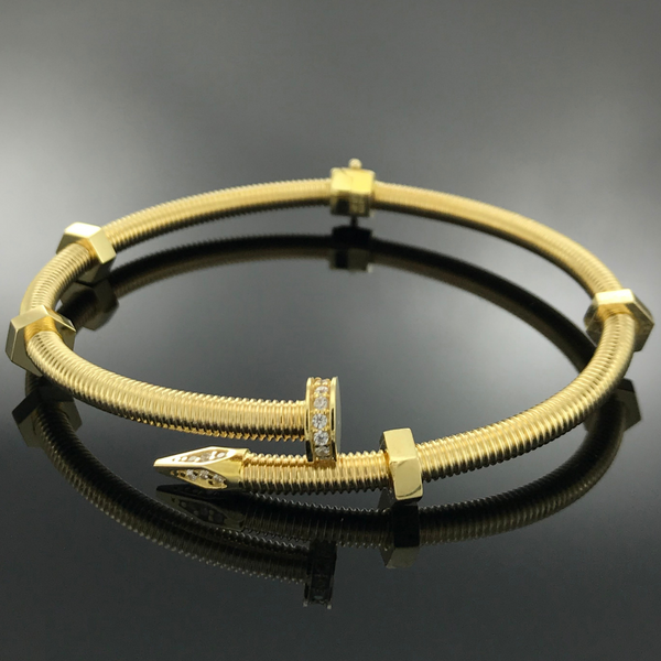 Real Gold Bangle GZBL09