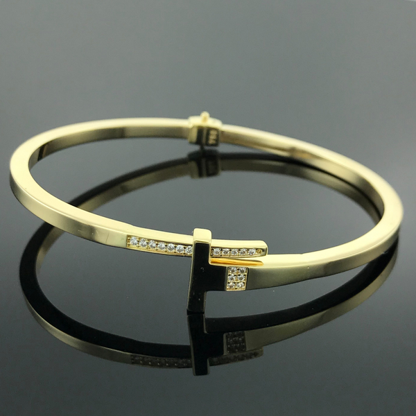 Real Gold Bangle GZBL14