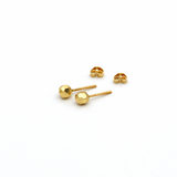 Real Gold Bee Comb Stud Earring Set E1417 - 18K Gold Jewelry