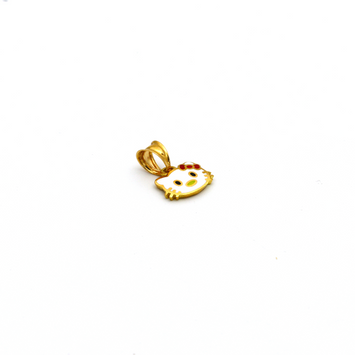 Real Gold Hello Kitty Pendant P 1651 - 18K Gold Jewelry