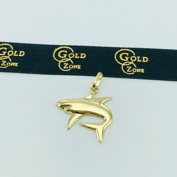 Real Gold Shark Pendant 2020