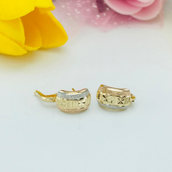 Real Gold 3C Curved Earring Set 2020 - 5 - 18K Gold Jewelry