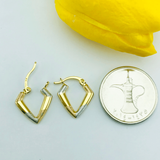 Real Gold 3 Color Earring Set 073 - 18k Gold Jewelry