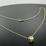 Real Gold Movable Box Necklace - 18k Gold Jewelry