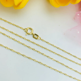 Real Gold Chain (50 C.M) 2218 - 18K Gold Jewelry