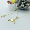 Real Gold 2 Color Whale Tail Necklace 104