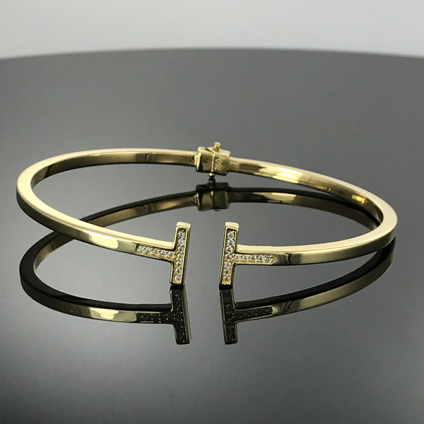 Real Gold Bangle GZBL16