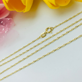 Real Gold Chain (45 C.M) 2218 - 18K Gold Jewelry