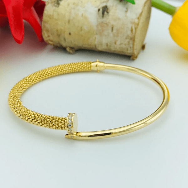 Real Gold CR Bangle 2020-1 - 18K Gold Jewelry