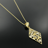 Real Gold Necklace GZN001 - 18k Gold Jewelry