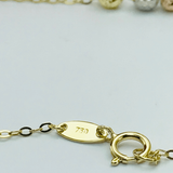 Real Gold 3 Color 3 Ball Bracelet - 18K Gold Jewelry