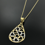 Real Gold Necklace GZN002 - 18k Gold Jewelry