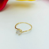 Real Gold Stone Ring 2020-106 (SIZE 7.5) - 18K Gold Jewelry