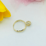 Real Gold 3C Ring 2020-A (SIZE 6) - 18K Gold Jewelry