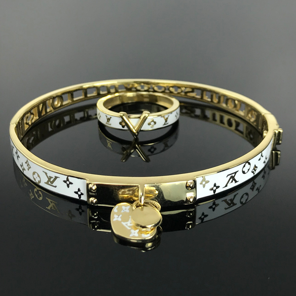 Real Gold Bangle GZBL25 With Ring