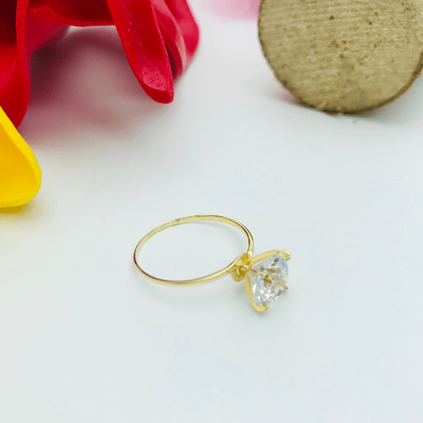Real Gold Solitaire Ring 99 (SIZE 6.5)