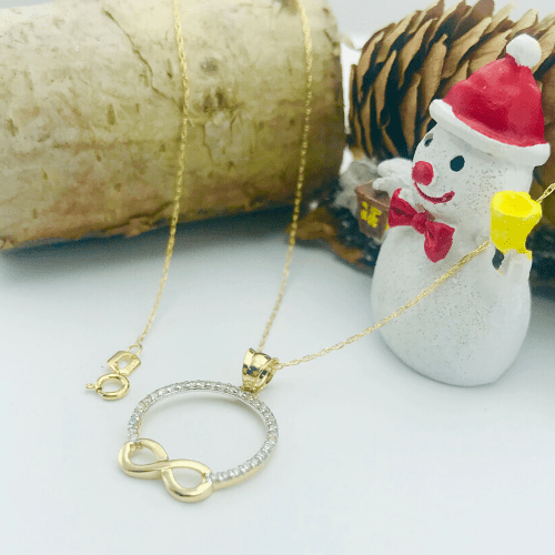 Real Gold Infinity Necklace 008