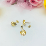 Real Gold Fine Drop 3C Love Earring Set With Pendant 2020 - 18K Gold Jewelry