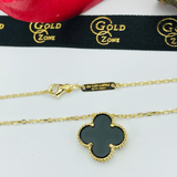 Real Gold VC Black Necklace