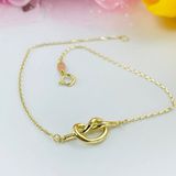 Real Gold Knot Bracelet 3418 - 18k Gold Jewelry