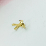 Real Gold Flat Small Cross Pendant 2020 - 18k Gold Jewelry