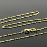 Real Gold 2 Side Moon Necklace - 18k Gold Jewelry
