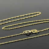 Real White Gold CR Roller Necklace - 18k Gold Jewelry