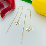 Real Gold Hanging Earring Set - 18k Gold Jewelry