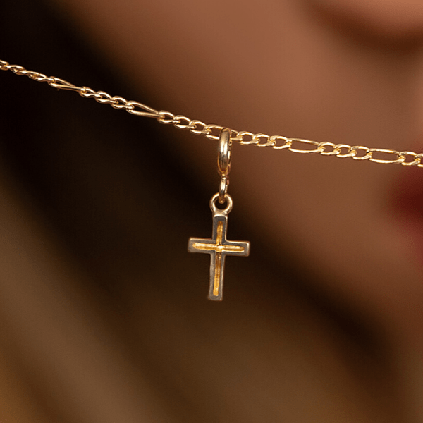 Real Gold Extra Hanging Cross Pendant 2308 - 18k Gold Jewelry