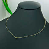 Real Gold Movable Glittering Seed Choker Necklace - 18K Gold Jewelry