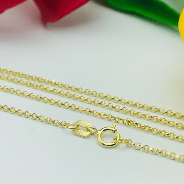 Real Gold Chopard Chain (50 C.M) - 18k Gold Jewelry